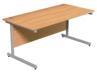 Rectangular Workstation 1600W x 800D Beech/Silver Leg