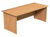 Panel End Desk Rectangular W1800xD800xH725mm Beech Ashford