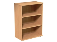 Medium open storage unit, 3 levels, 800W x 420D x 1130H, Beech