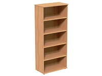 High Open Storage Unit, 5 Levels, 800W x 420D x 1850H, Beech
