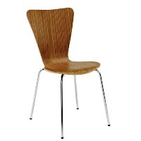 Picasso Lite Wooden Cafe Chair Walnut