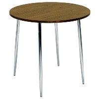 Elipse 4 Leg Circular Cafe Table Walnut