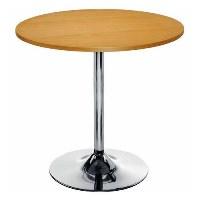 Elipse Trumpet Base Circular Cafe Table Beech