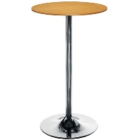 Astral Tall Round Cafe Table Beech H1054mm x D600mm