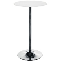 Astral Tall Round Cafe Table White H1054mm x D600mm
