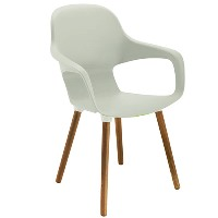Ariel 2 Canteen Wooden Leg Chair White