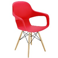 Ariel 2 Canteen Wooden & Wire Chair Red