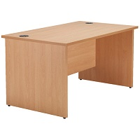 JEMINI BEECH 1400MM RECTANGULAR DESK