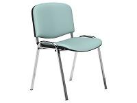 O.I Series Light Blue Vinyl Washable Chrome Legs Stacking Chair