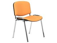 O.I Series Orange Vinyl Washable Chrome Legs Stacking Chair