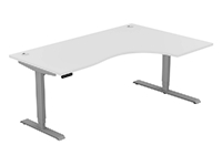 Leap Electric Height Adj Radial Desk, Right Hand, 1800 x 1200