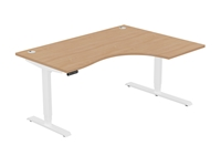 Leap Electric Height Adj Radial Desk, Right Hand, 1600 x 1200