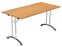 Morph Fold Rectangular table, beech, 1500 x 750