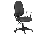 OA Series High Back Chair, Black, Fixed Arms