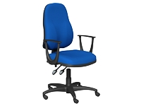 OA Series High Back Chair, Blue, Fixed Arms