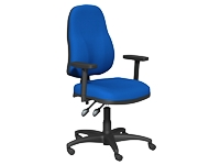 OA Series High Back Chair, Blue, Adjustable Arms