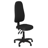 OA Series High Back Chair, Black Vinyl, No Arms