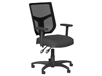 OA High Back Mesh Chair, Black, Adjustable Arms