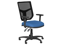 OA High Back Mesh Chair, Blue, Adjustable Arms