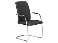 OQ Series High Backrest Stacking Chair, Chrome Frame
