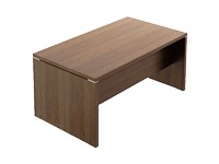 Fermo Executive Desk 1600 x 900mm x 740H Walnut