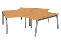 Switch 120 Degree 3 Person Desk, A Leg, 1600