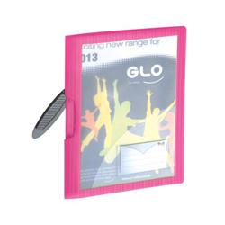 GLO REPORT FILES W/CLIP PINK