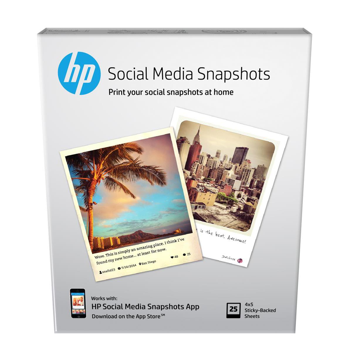 )HP RMVBLE STICKY PHOTOPAPER10X13CM PK25