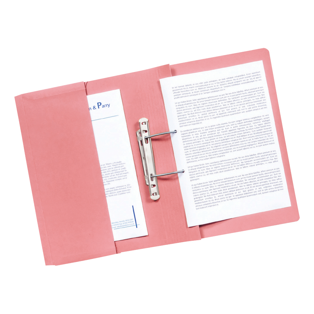 G/HALL SUP HWGHT POCKET SPIRAL FILE PINK