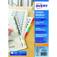 AVERY INDEX MAKER 5-PART UNPUNCH DIVIDER