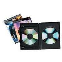 FELLOWES DOUBLE DVD/GAMES CASE BLACK PK5
