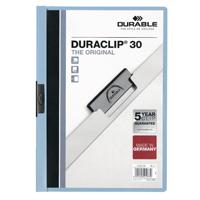 DURABLE A4 BLUE DURACLIP 3MM FILE PK25